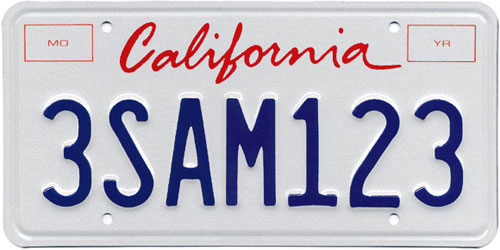 Free vector of California license plate script