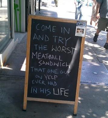 Yelp meatball sandwich